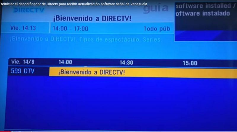 Cómo reiniciar el decodificador de Directv para recibir actualización software señal de Venezuela (Video)
